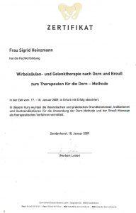 Zertifikat Dorn Breuß