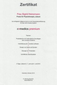 Zertifikat cymedics premium
