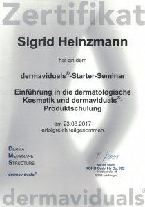 Zertifikat dermaviduals